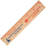 6 Inch Natural Finish Wood Rulers